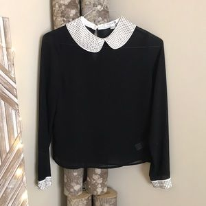 Tops - Forever 21 collared blouse